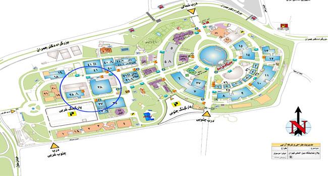 نقشه نمایشگاه بین المللی تهران